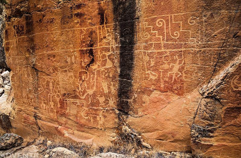 Big Wall of Petroglyphs