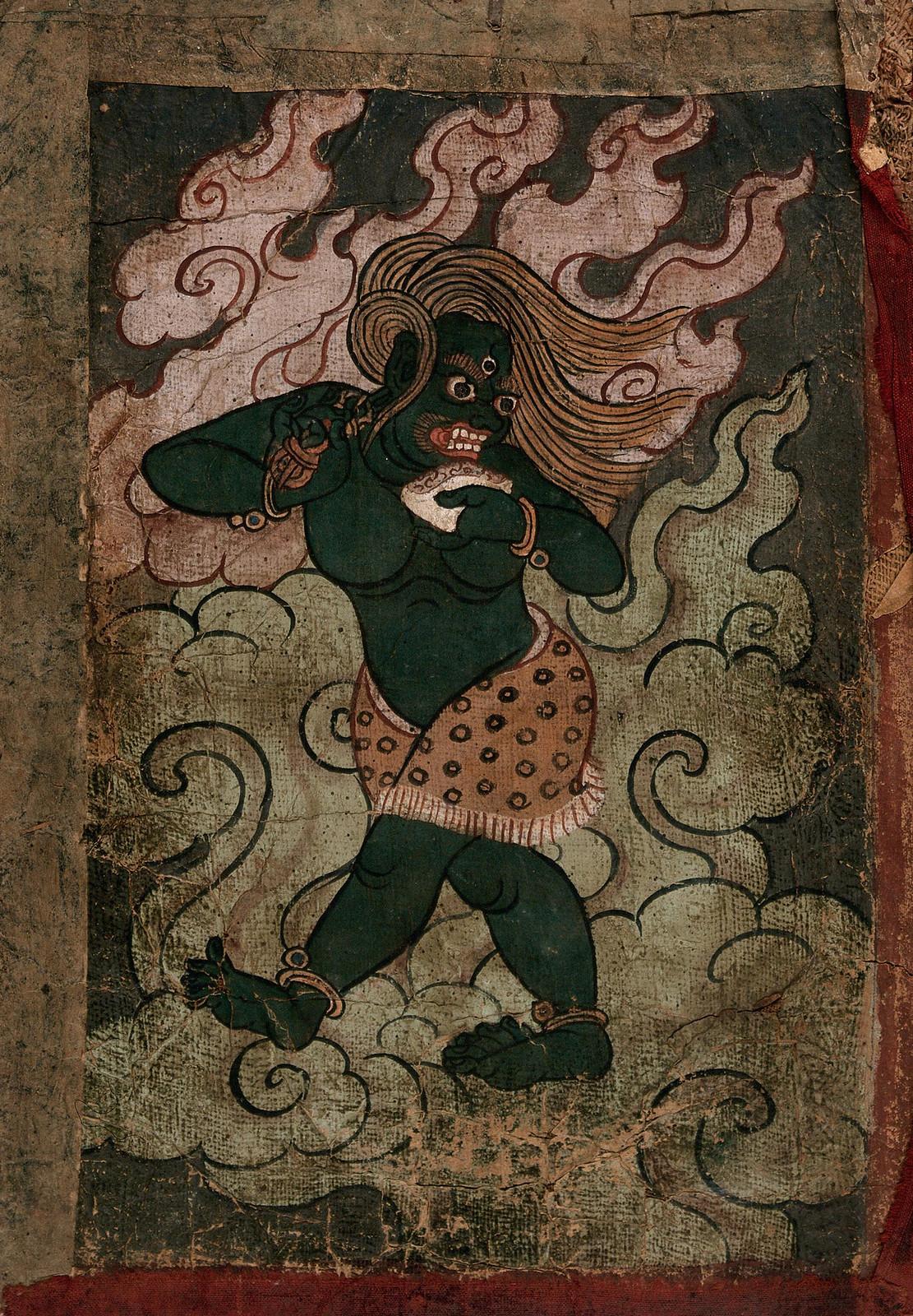 Tibetan Demon Painting  - 2