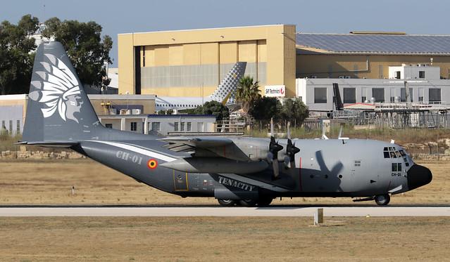 CH-01 LMML 10-07-2021 Belgium - Air Force Lockheed C-130H Hercules CN 382-4455