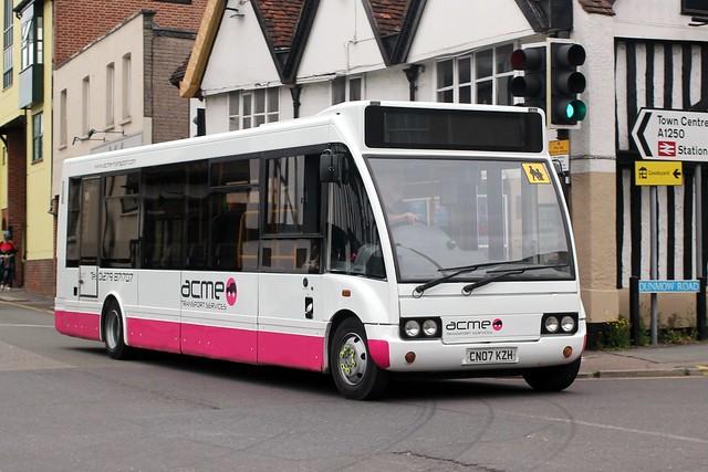 Acme Bus & Coach Co. Molehill Green , Takeley , Essex . CN07KZH . Hockerill Cross Roads , Bishop's Stortford , Hertfordshire . Thursday afternoon 10th-June-2021 .
