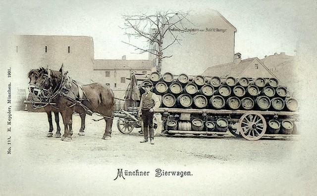Münchner Bierwagen ...