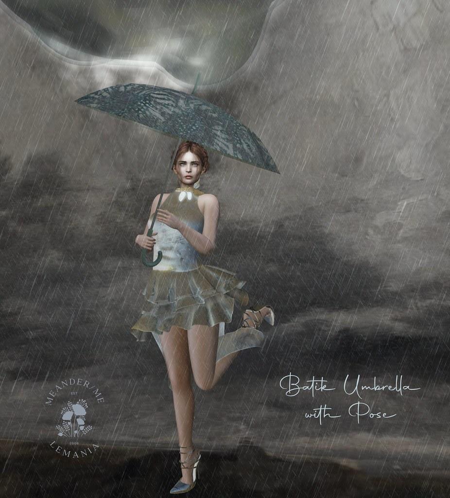 Batik Umbrella with Pose - Group 1L Gift