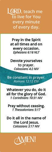 Make Your Life a Prayer Bookmark Back - Teens/YA