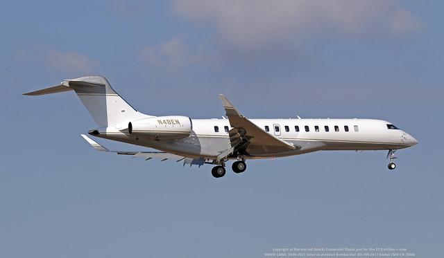 N48EN LMML 10-06-2021 Solairus Aviation Bombardier BD-700-2A12 Global 7500 CN 70060