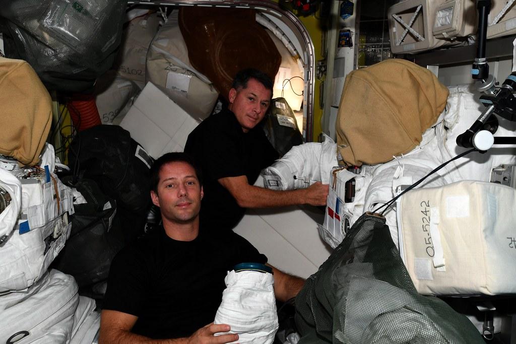 Working on spacewalk preparations
