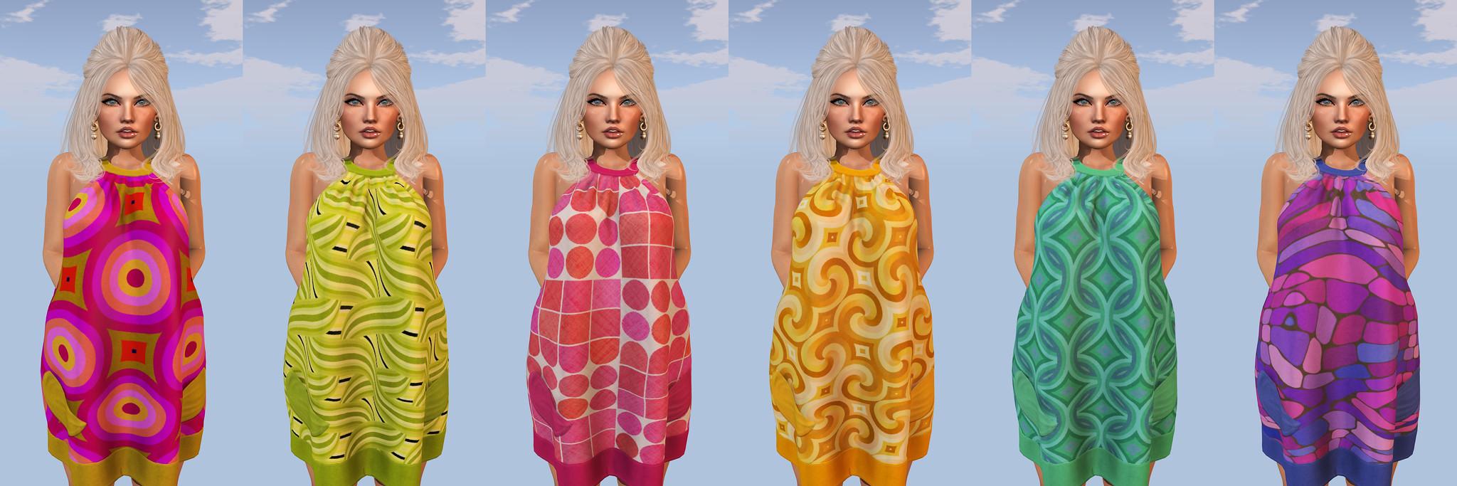 Maraschino - Dawn Dress (Acid, Avocado, Lippy, Mellow, Peacock, Trippy)