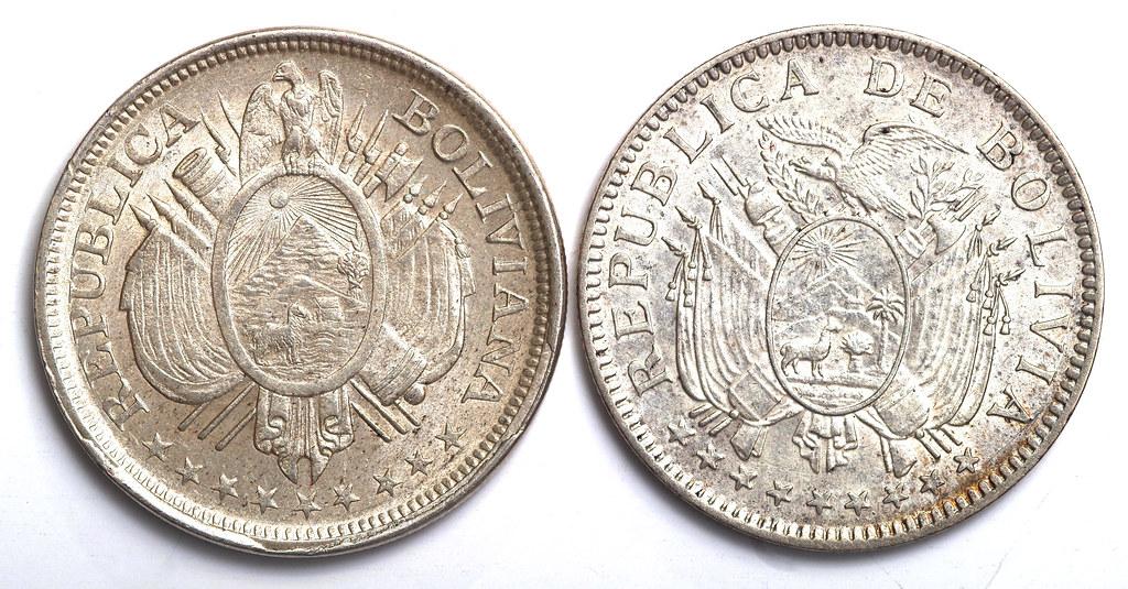 Ocaso de la ceca de Potosí: Medio Boliviano 51238603941_59aea91f34_b