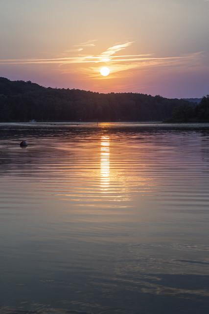Sunset at Lake Baldeneysee in Essen | Germany