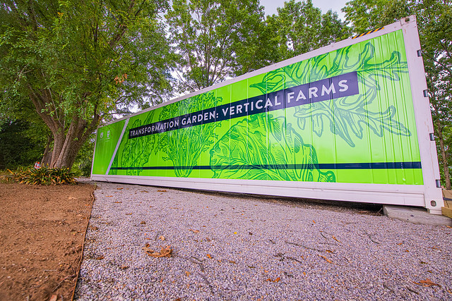 Vertical farm shipping container