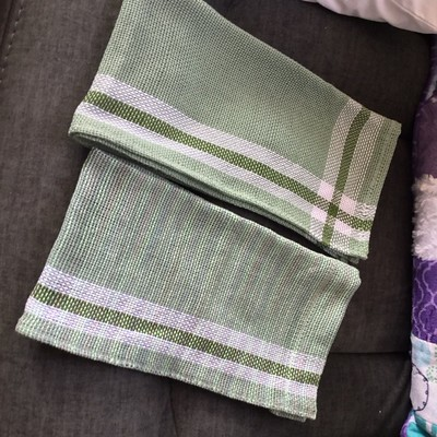 Diane's first attempt at weaving with 8/2 cotton! Aren't her finished tea towels great?