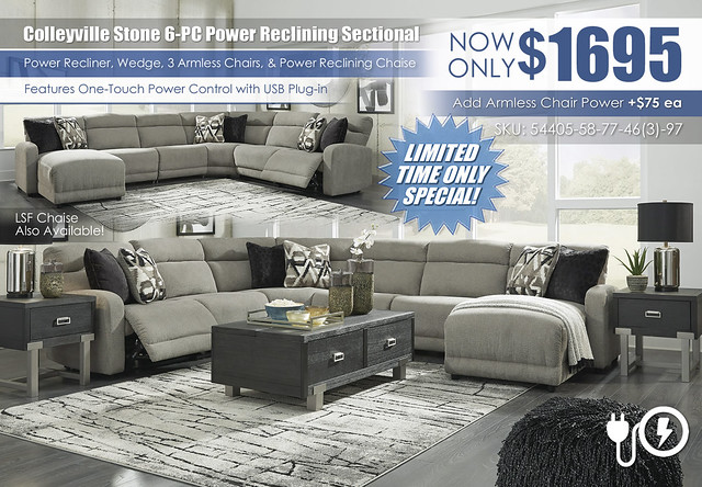 Colleyville Stone 6-PC Power Reclining Sectional_54405-58-31-77-46(2)-97-T930