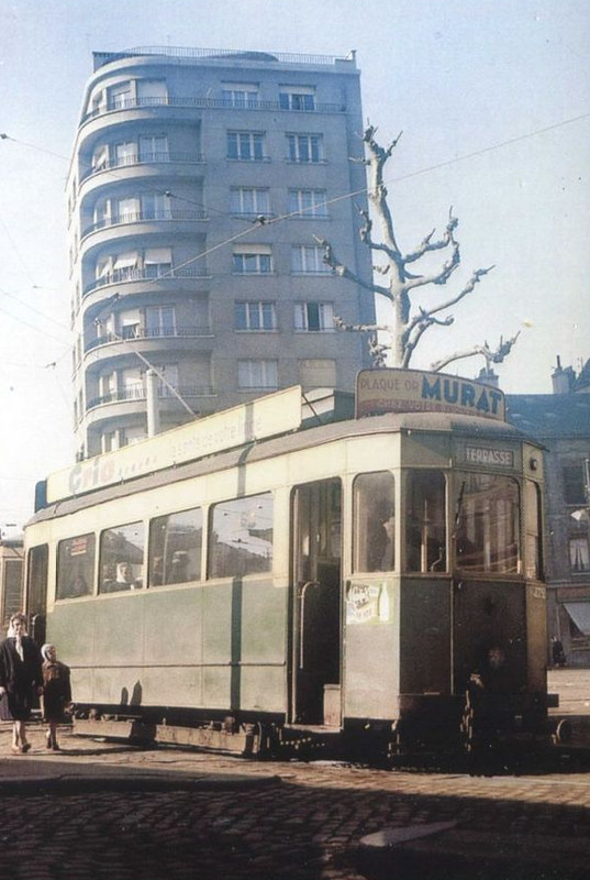 42 SAINT ETIENNE tramway BELLEVUE 1955
