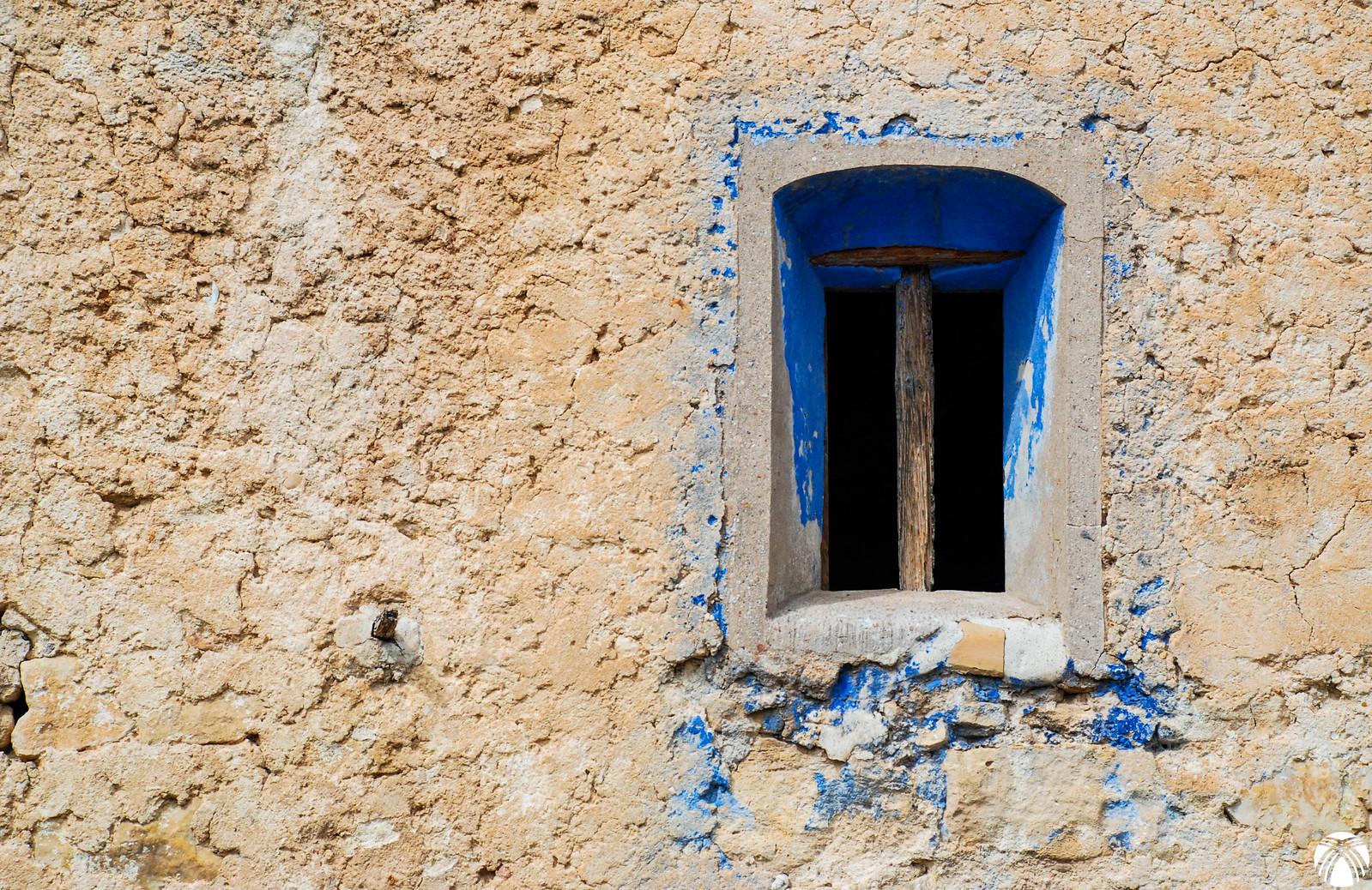 Detalle de la ventana del cortijo de Hondares de Abajo