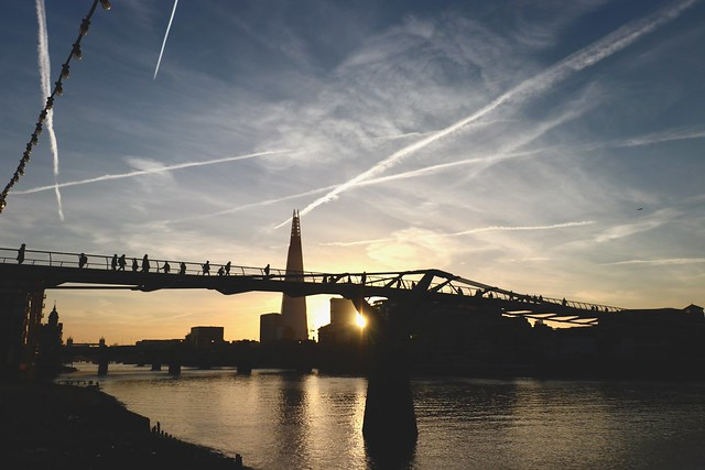 Sky over the Thames, London