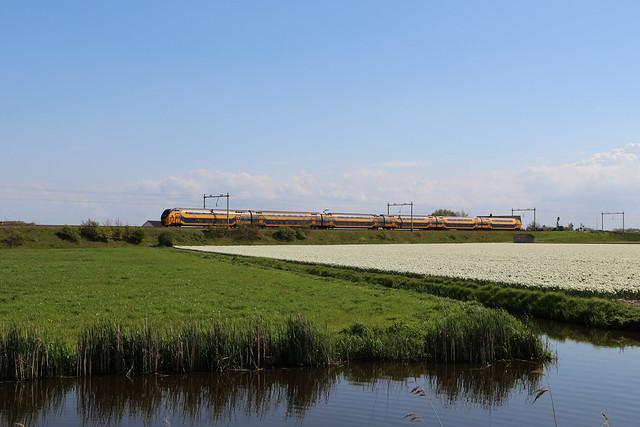 2021-05-12; 0005. VIRM-6-8661 als trein 2163. Leidsevaart, Vogelenzang.