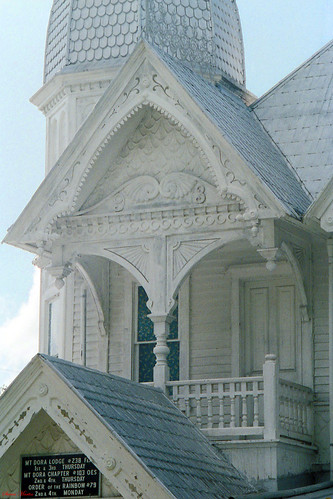 house architecture florida scrollwork victorian gingerbread lodge masonic porch historical 1986 mountdora queenannestyle