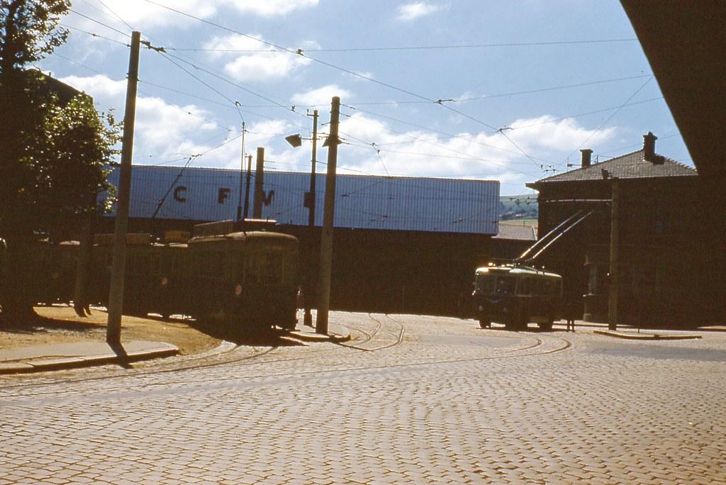 42 St Etienne Bellevue depot tram