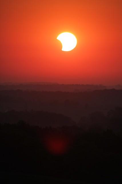 Partial solar eclipse in Wisconsin.