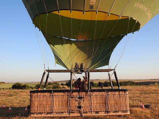 Globo con el que volaríamos sobre Segovia