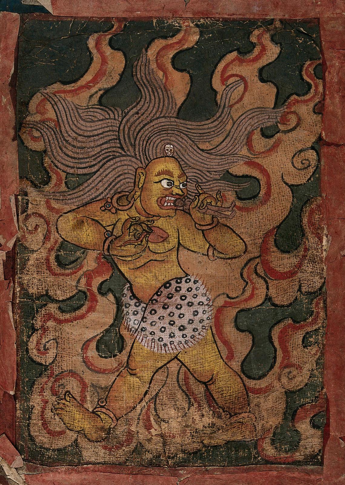 Tibetan Demon Painting  - 7