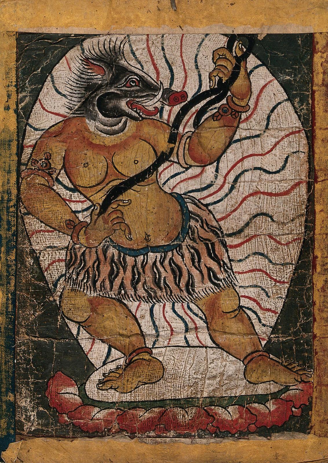 Tibetan Demon Painting  - 6