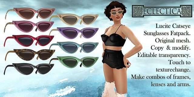 Eclectica Lucite Catseye Sunglasses