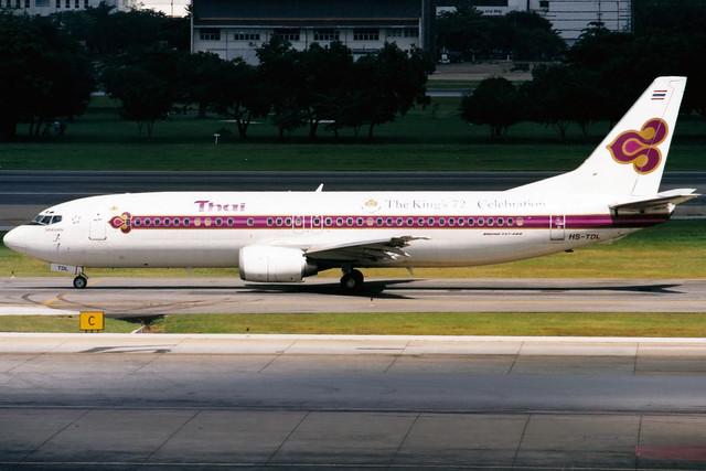 Thai Airways | Boeing 737-400 | HS-TDL | Bangkok Don Muang