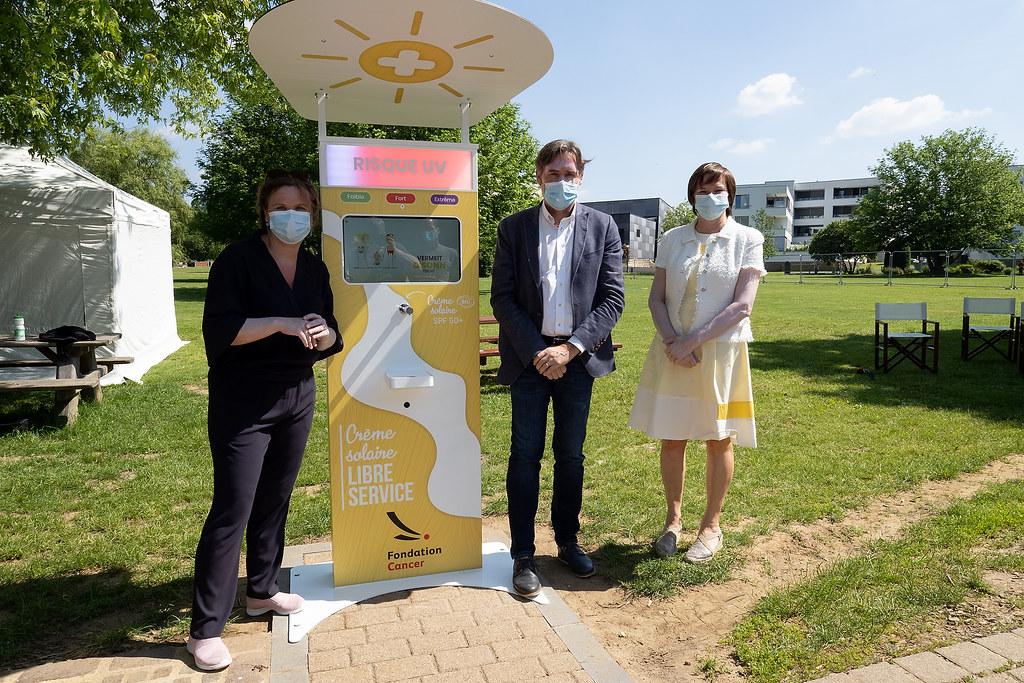 Les stations de crème solaire gratuite au Luxembourg - Conférence de presse
