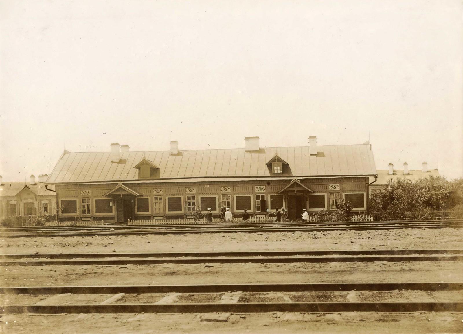 Дом железнодорожного посёлка. 1897.