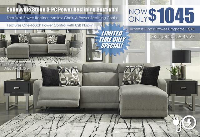 Colleyville Stone 3PC Power Reclining Sectional_54405-58-46-97-SET