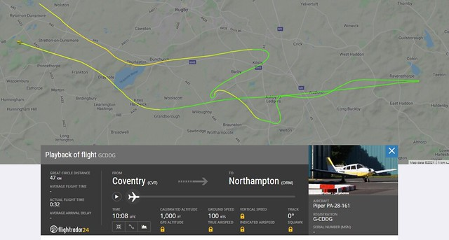 Practical Flight Test - 2021-06-10 - map and data