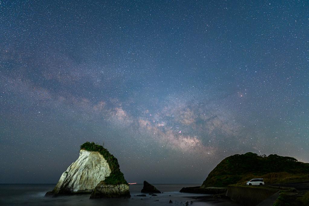 景色も星も伸びにくい60秒で撮影