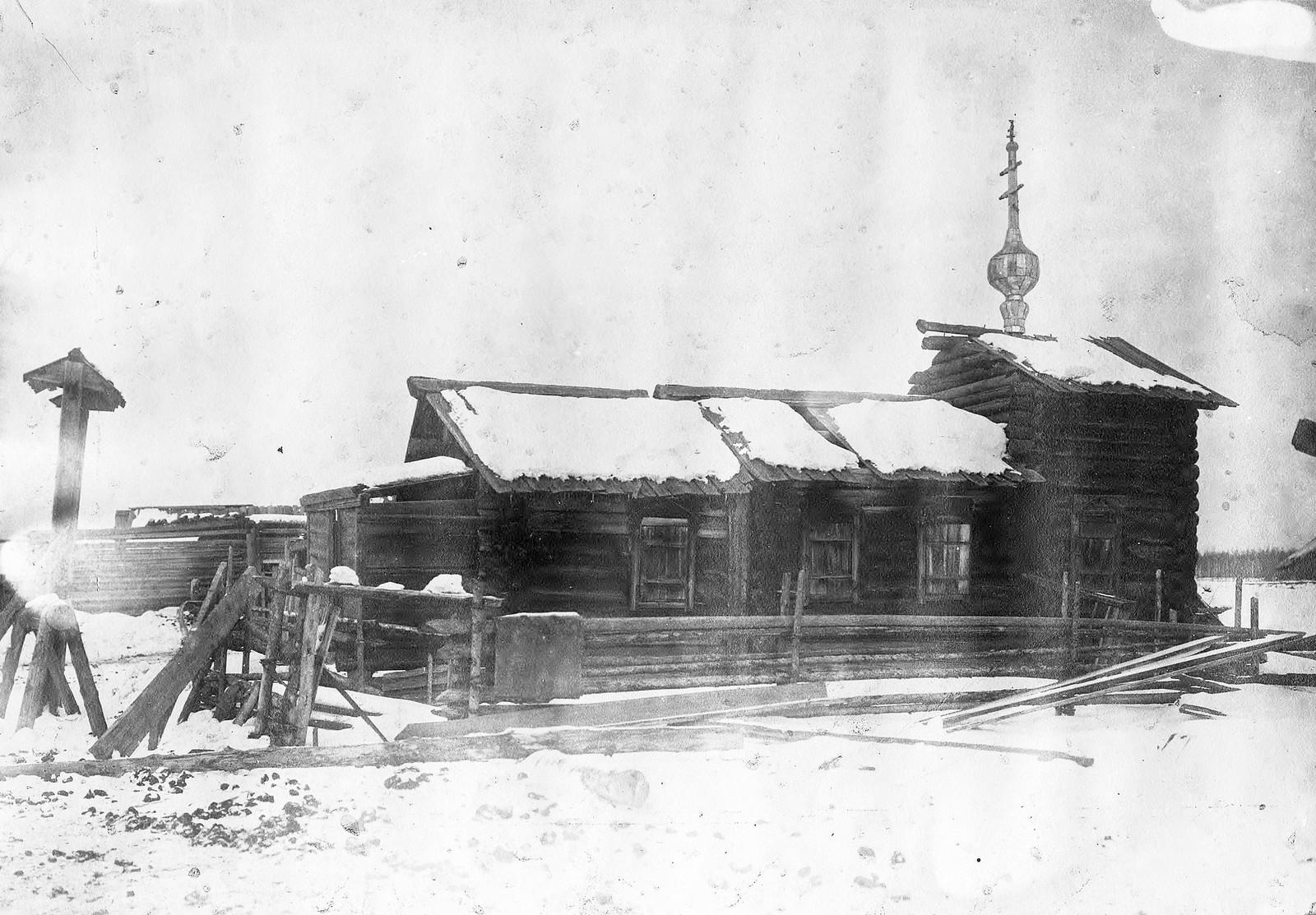 Старинная часовня в деревни Яркиной Енисейского уезда.