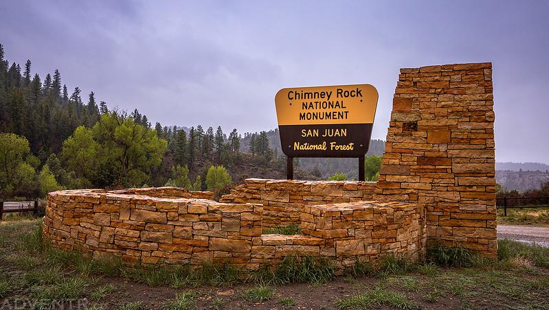 Chimney Rock National Monument Sign