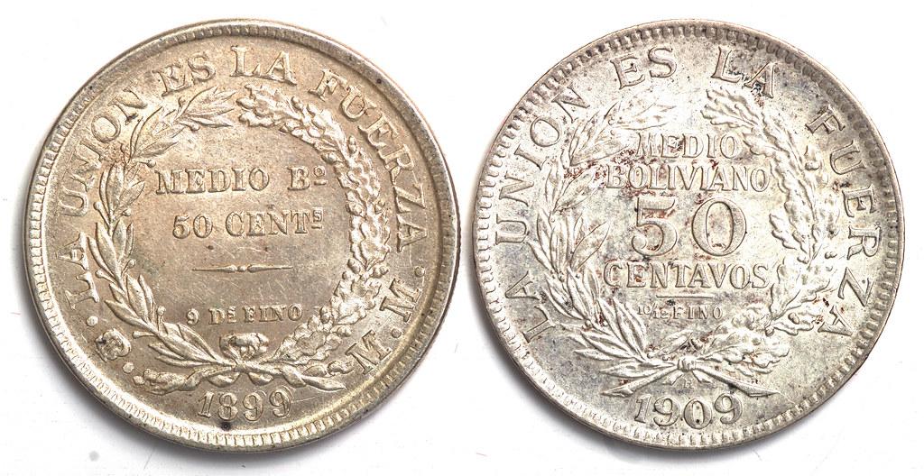 Ocaso de la ceca de Potosí: Medio Boliviano 51239371659_14fc474f36_b