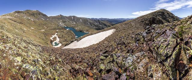 Estanys de la Vall del Riu desde el Serrat dels Estanys, Andorra