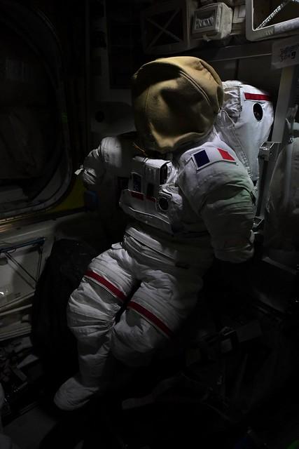 Spacesuit resting