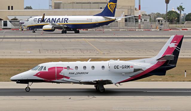 OE-GRM LMML 10-06-2021 Pink Sparrow Cessna 560XL Citation XLS+ CN 560-6168