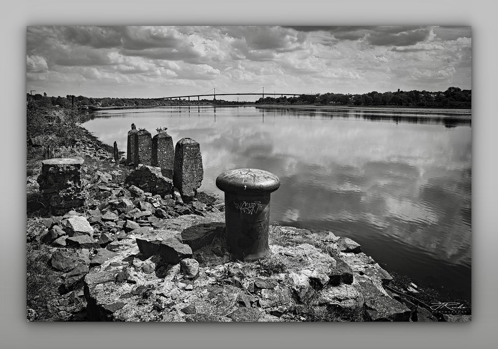 Looking up the River Clyde to the Erskine Bridge.