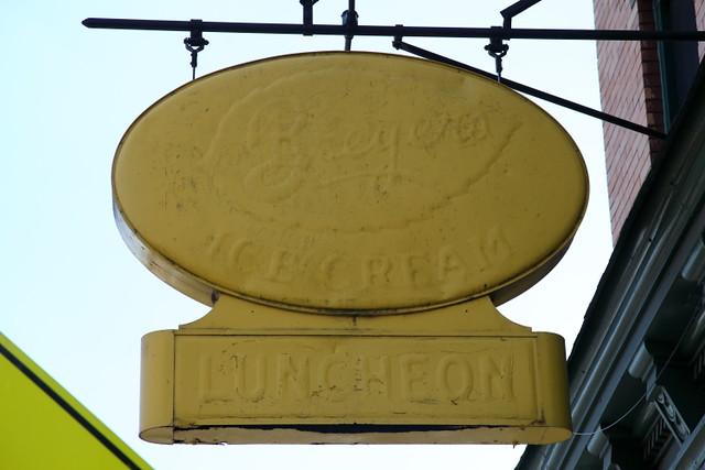 Breyer's Ice Cream, luncheon, surviving privilege signage, Baonanas, Jersey City
