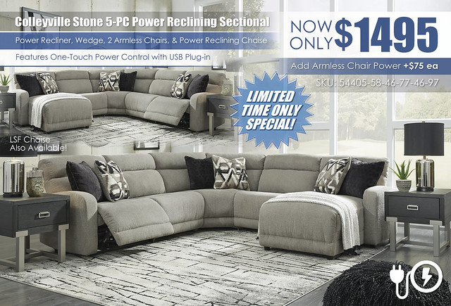 Colleyville Stone 5-PC Power Reclining Sectional_54405-58-46-77-46-97-T930