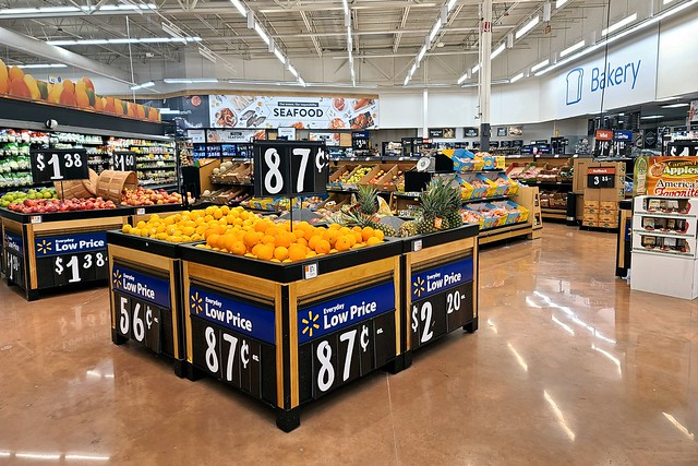 Produce area at Walmart in Waynesboro, Pennsylvania