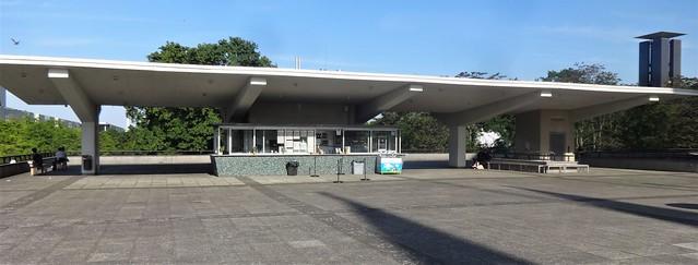 1956/57 Berlin-W. Kiosk auf dem Dach der Interbau-Kongreßhalle von Hugh Stubbins John-Foster-Dulles-Allee 10 in 10557 Tiergarten