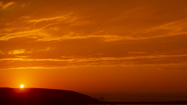 Sunrise over Filey Brigg
