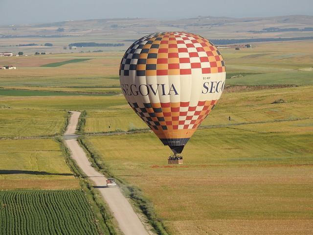 Vuelo en globo sobre la campiña de Segovia
