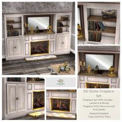 DD Eloise Vintage Fireplace SetAD
