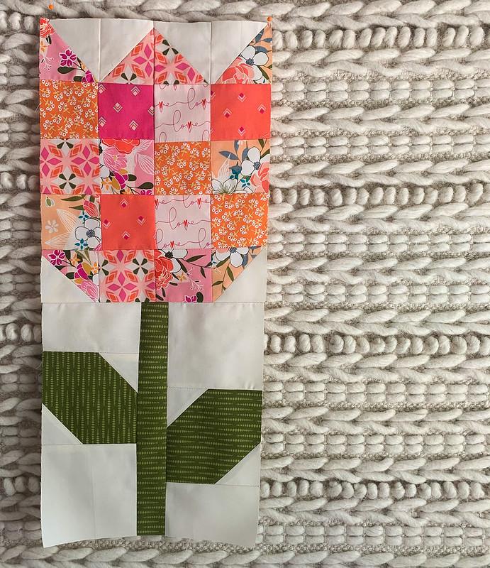 Tulip Block from Pat Sloan's book Celebrate the Seasons