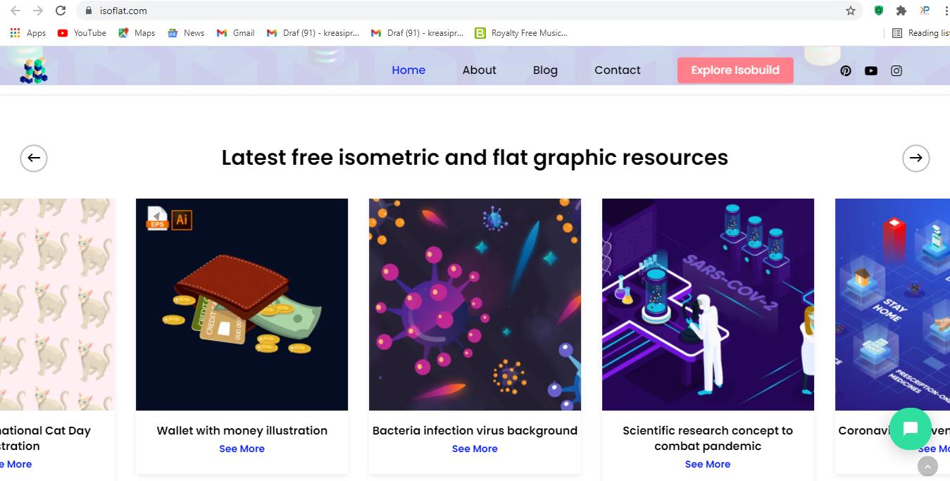 Isoflat adalah salah satu website download vektor gratis