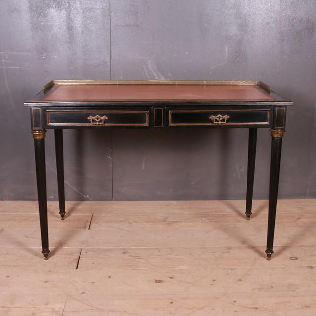 French Ebonized Writing Table