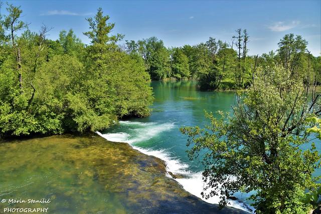 Waterfall on river Mrežnica - Belavići, Croatia